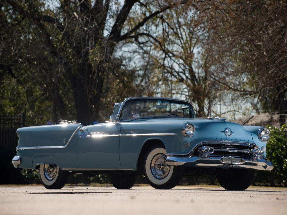 1954 Oldsmobile Super 88 Convertible 8-8 retro wallpaper