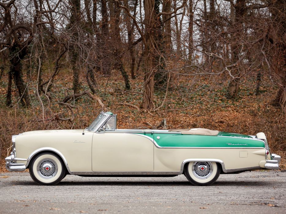 1954 Packard Caribbean Convertible Coupe retro      h wallpaper