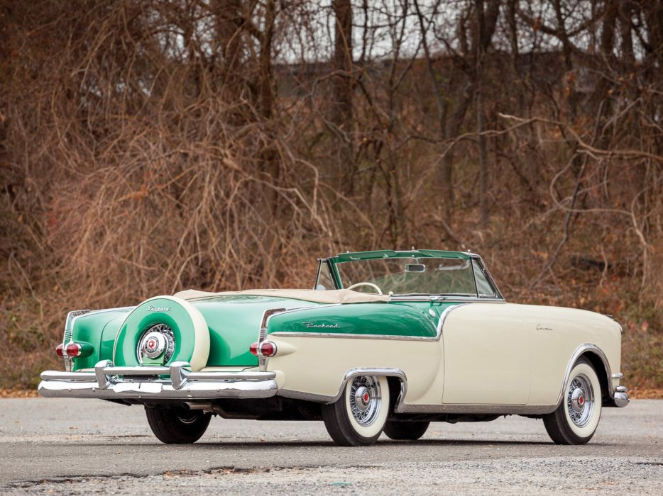 1954 Packard Caribbean Convertible Coupe retro    j wallpaper