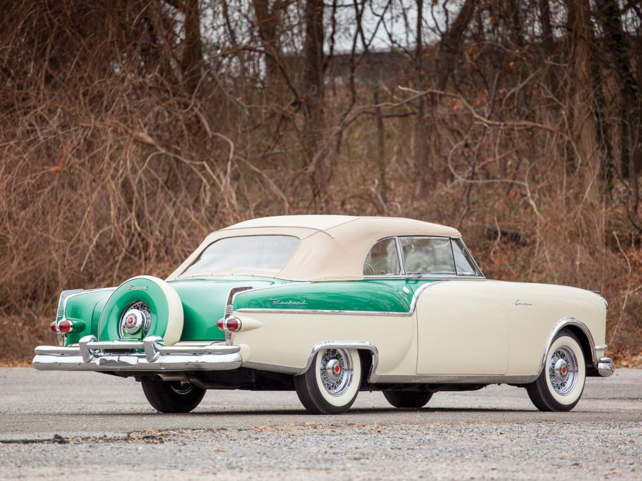 1954 Packard Caribbean Convertible Coupe retro   h wallpaper