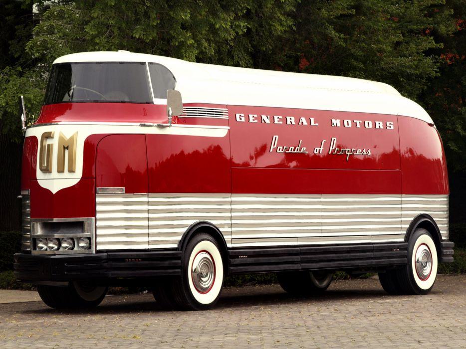 General Motors G-M Futurliner bus transport       f wallpaper