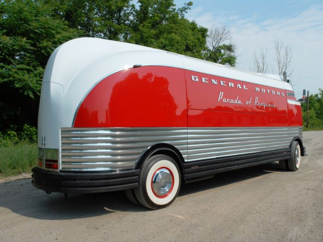 General Motors G-M Futurliner bus transport d wallpaper