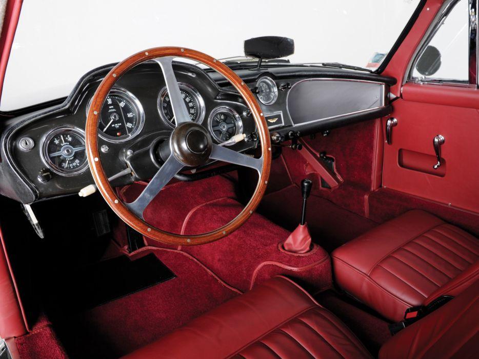1955 Aston Martin DB24 Saloon retro interior wallpaper