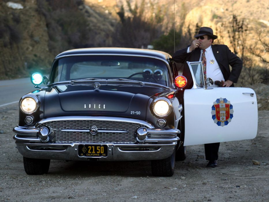 1955 Buick Century Sedan Highway Patrol Police retro muscle    g wallpaper