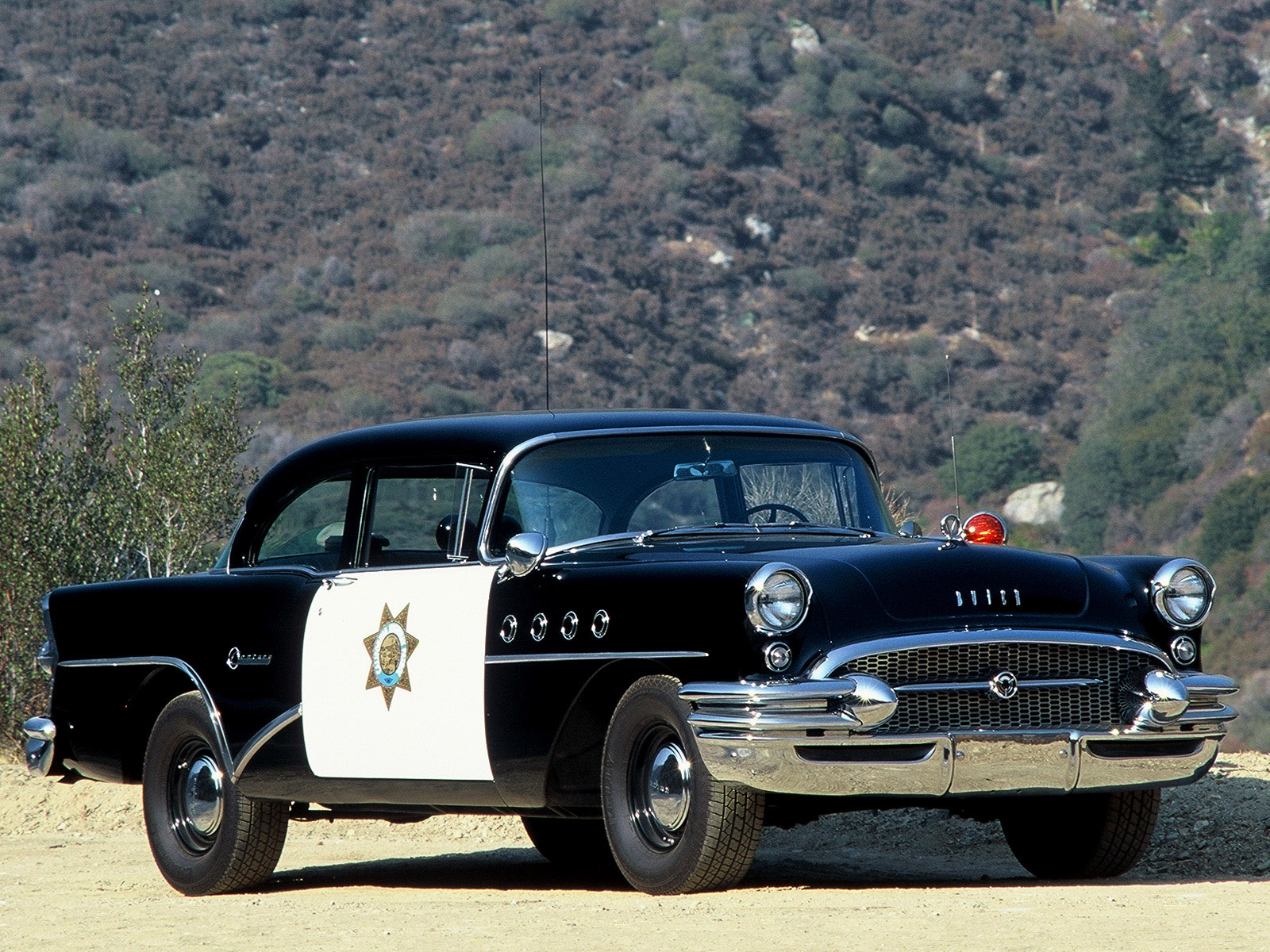 1955 Buick Century Sedan Highway Patrol Police Retro