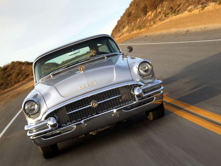 1955 Buick Roadmaster retro  h wallpaper