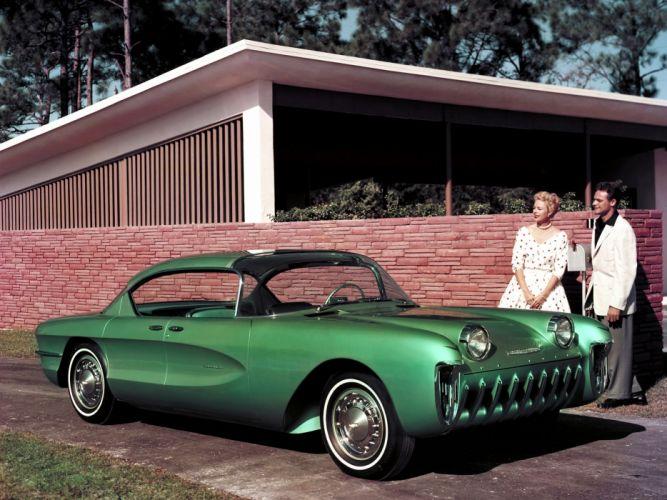 1955 Chevrolet Biscayne Concept retro wallpaper