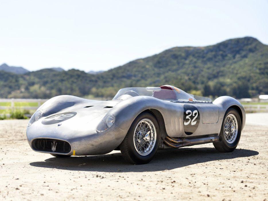 1955 Maserati 200S retro race racing wallpaper