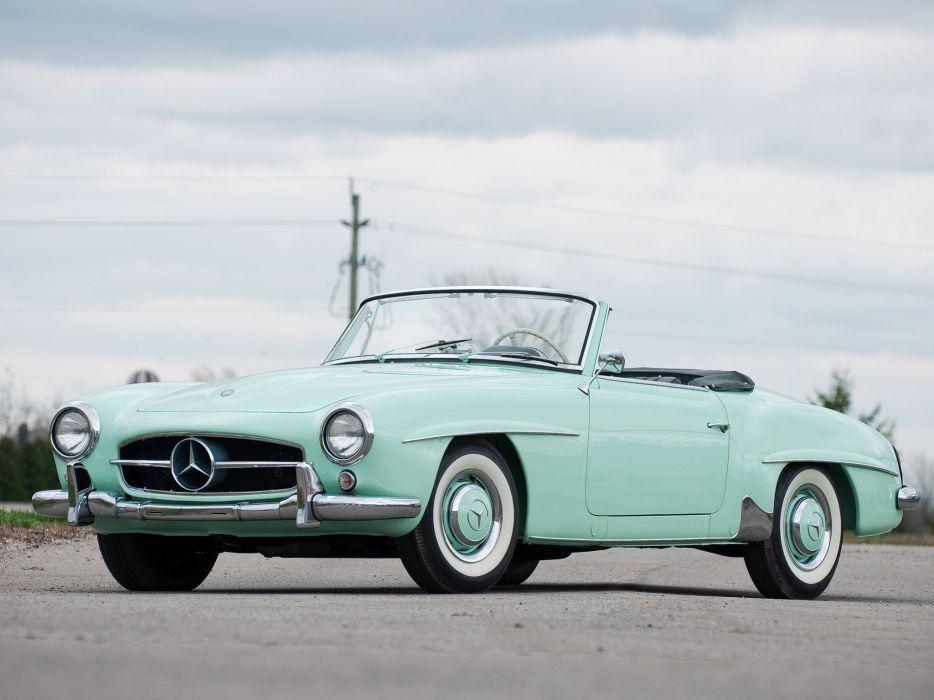 1955 Mercedes Benz 190SL R121 retro       h wallpaper