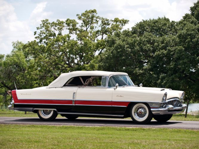 1955 Packard Caribbean Convertible Coupe retro luxury f wallpaper