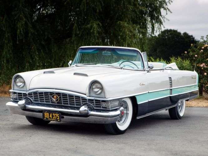 1955 Packard Caribbean Convertible Coupe retro luxury wallpaper
