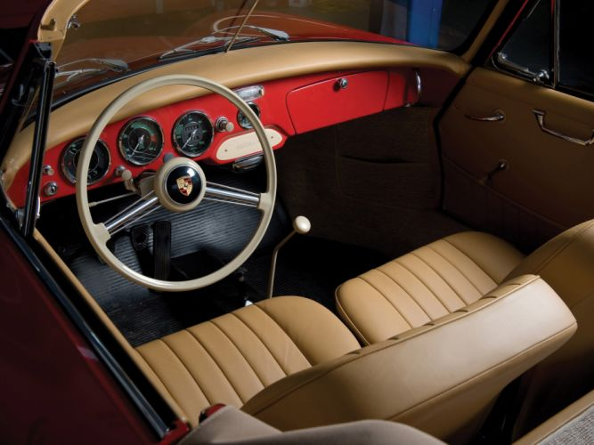 1955 Porsche 356 A Cabriolet retro interior wallpaper