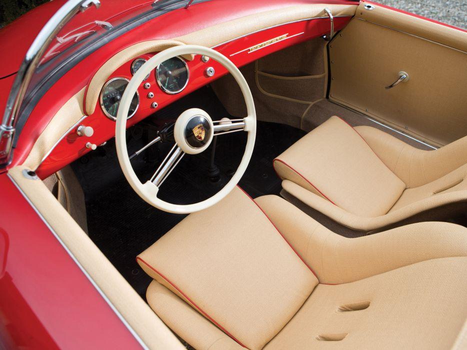 1955 Porsche 356 Speedster retro supercar supercars interior wallpaper