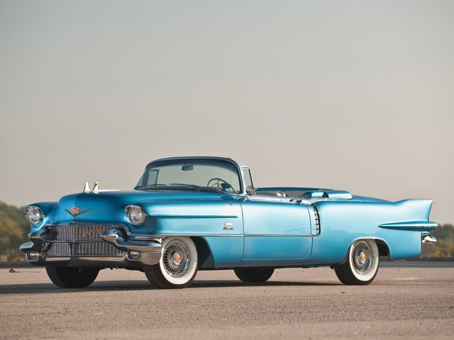 1956 Cadillac Eldorado Biarritz retro luxury convertible wallpaper