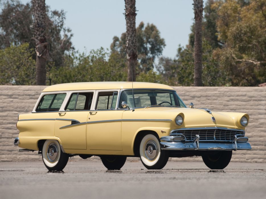 1956 Ford Country Sedan stationwagon retro wallpaper