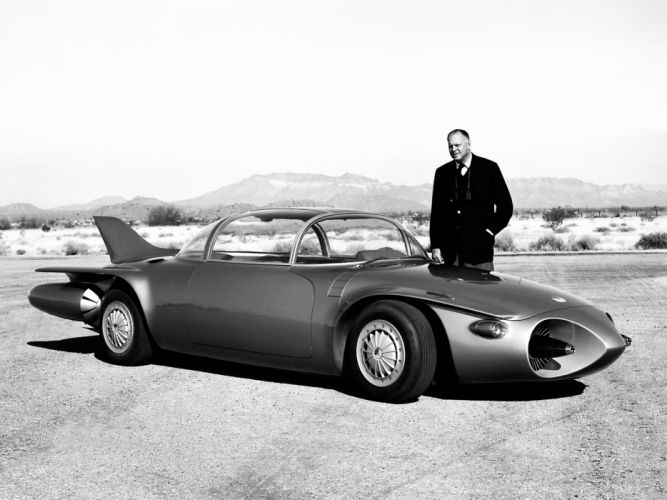 1956 GM Firebird II Concept retro general motors wallpaper