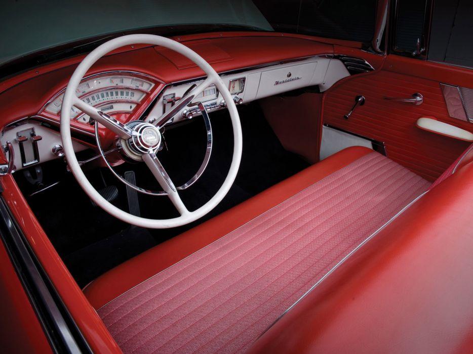 1956 Mercury Montclair retro luxury interior wallpaper