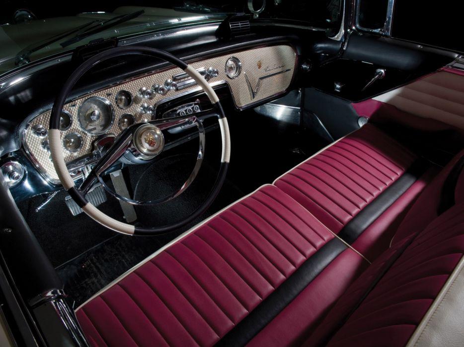1956 Packard Caribbean Convertible Coupe retro luxury interior wallpaper