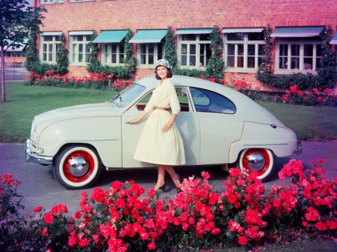 1956 Saab 93 retro 9-3 g wallpaper