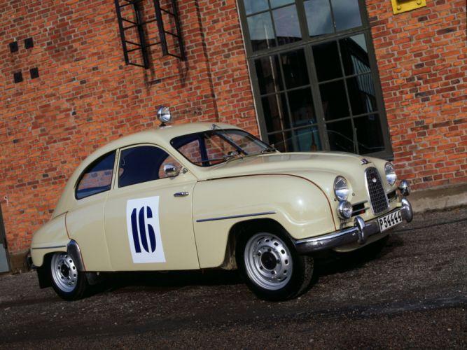 1956 Saab 93 retro 9-3 wallpaper