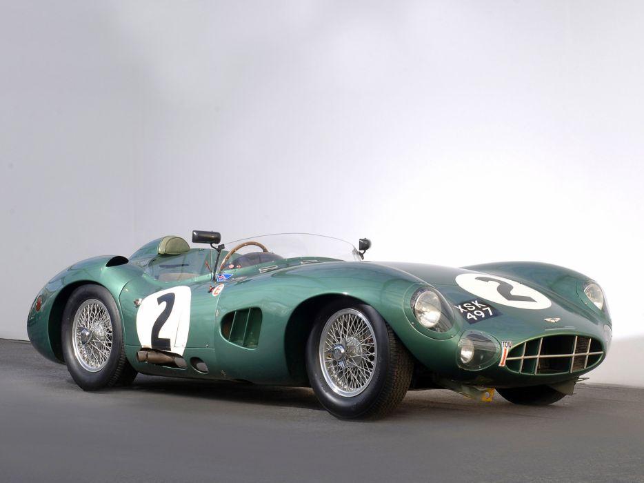 1957 Aston Martin DBR1 retro race racing supercar supercars    g wallpaper