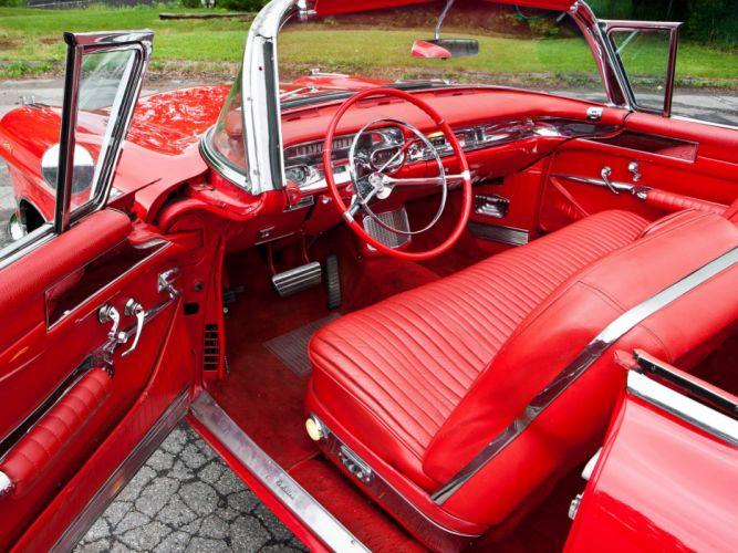 1957 Cadillac Eldorado Biarritz convertible retro luxury interior f wallpaper
