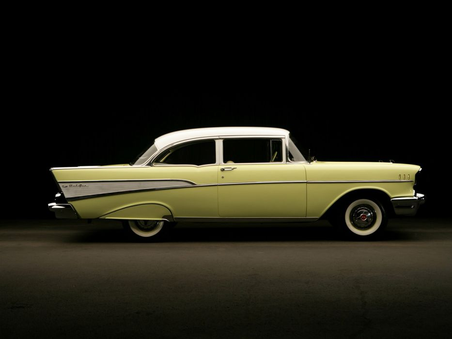 1957 Chevrolet Bel Air 2-door Sedan retro    f wallpaper
