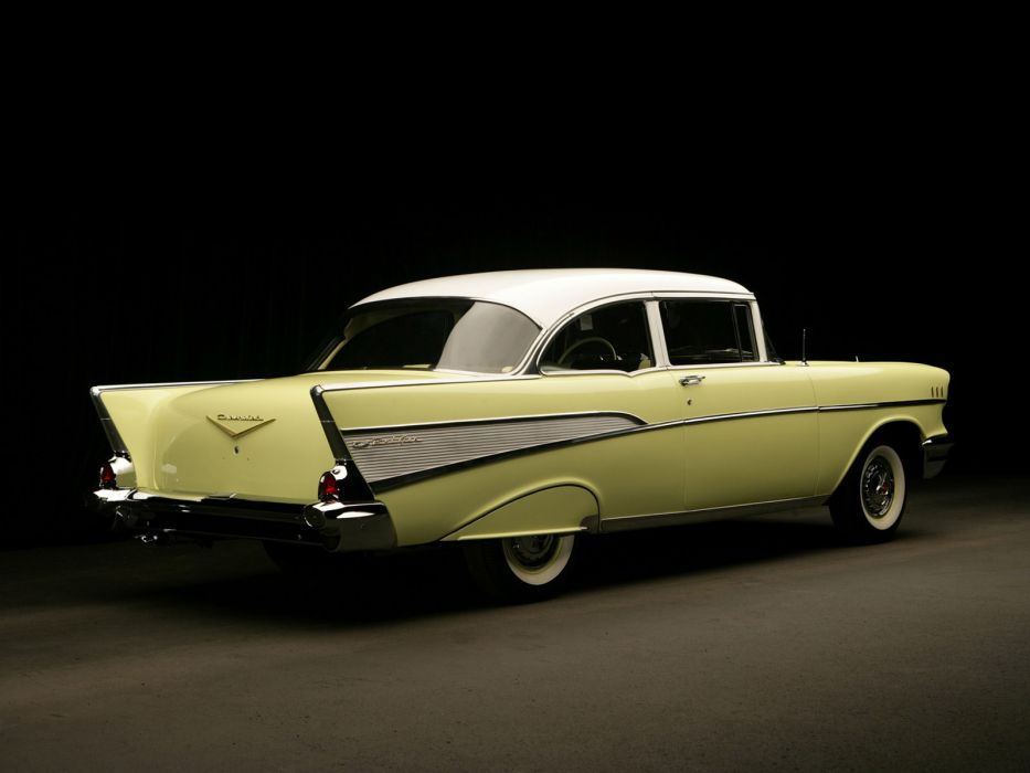 1957 Chevrolet Bel Air 2-door Sedan retro  f wallpaper