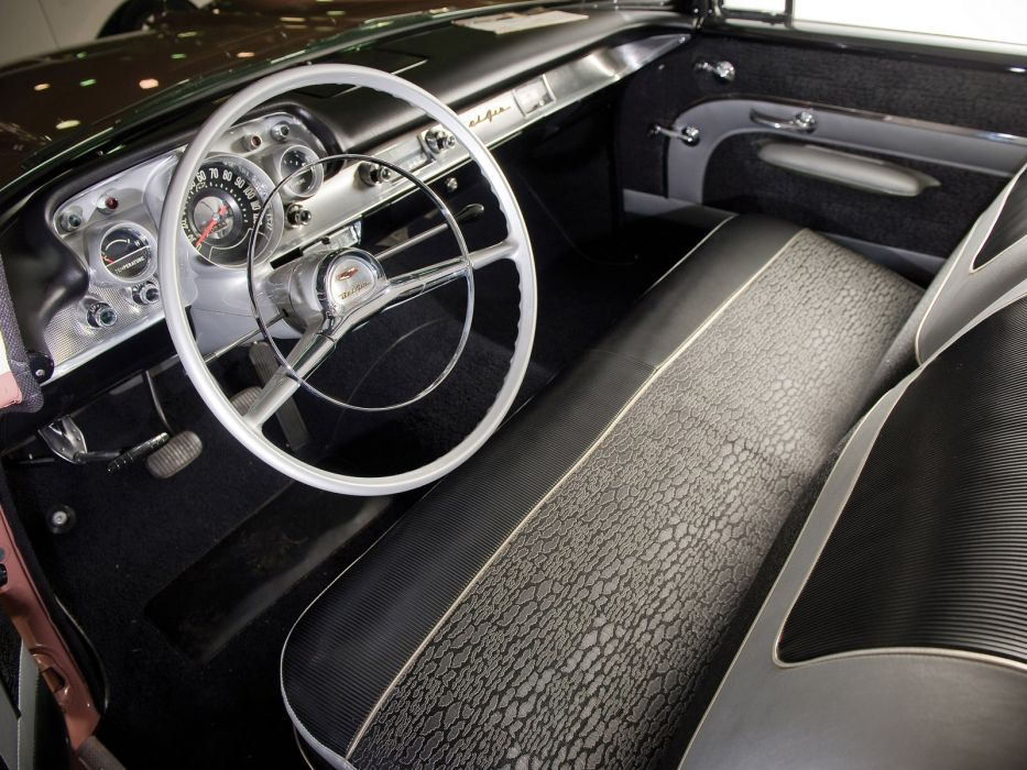 1957 Chevrolet Bel Air 2 Door Sedan Retro Interior Wallpaper