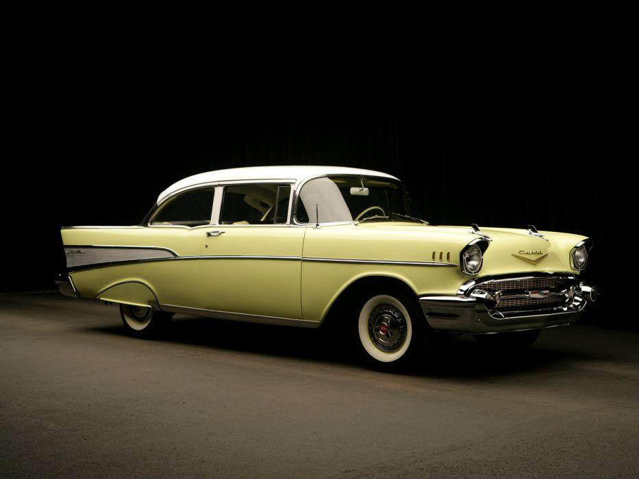 1957 Chevrolet Bel Air 2-door Sedan retro wallpaper