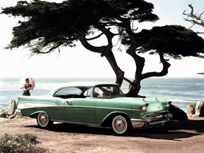 1957 Chevrolet Bel Air Sport Coupe retro f wallpaper