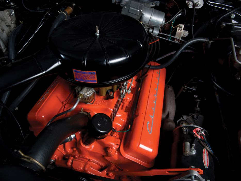 1957 Chevrolet Bel Air Sport Coupe retro engine engines wallpaper