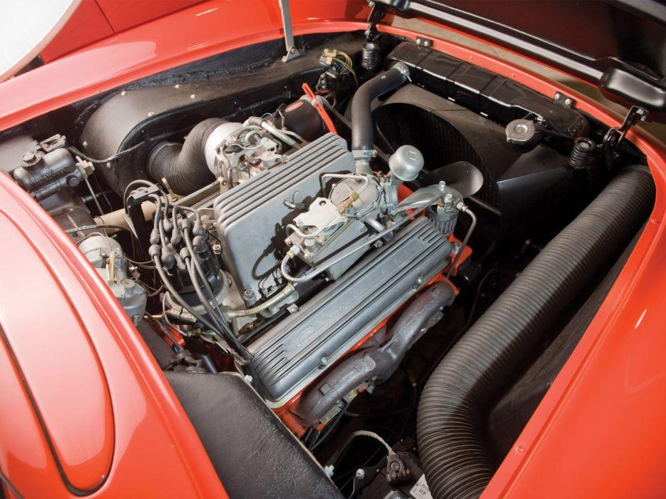 1957 Chevrolet Corvette C1 Airbox COPO c-1 retro muscle supercar supercars engine engines wallpaper