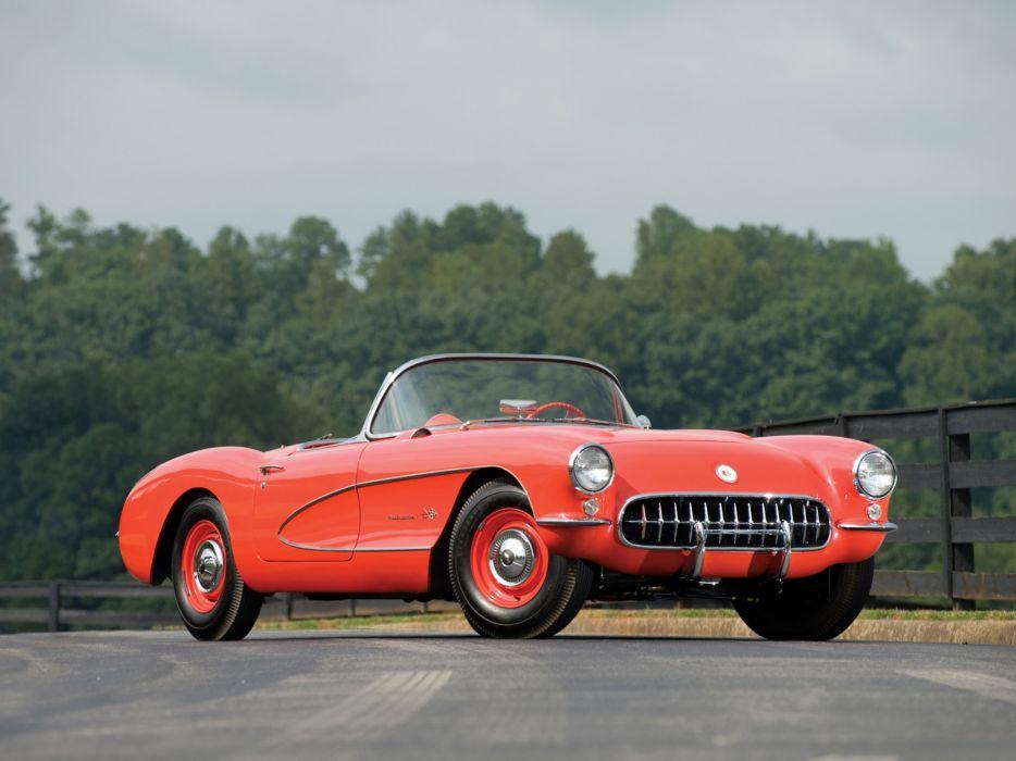 1957 Chevrolet Corvette C1 Airbox COPO c-1 retro muscle supercar supercars wallpaper