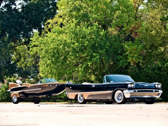 1957 DeSoto Adventurer Convertible retro luxury f wallpaper