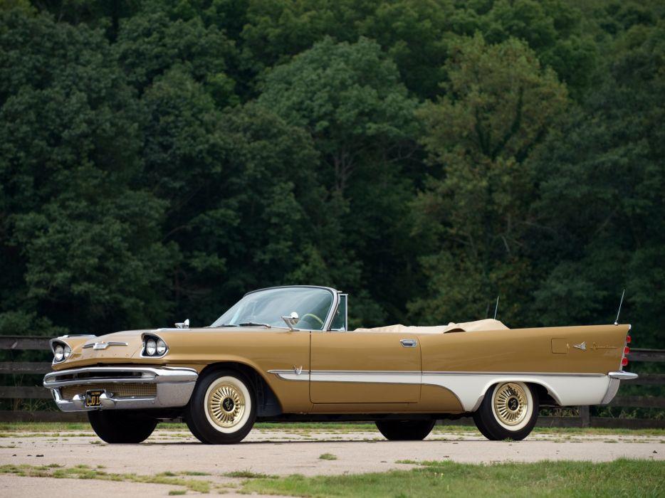 1957 DeSoto Adventurer Convertible retro luxury wallpaper
