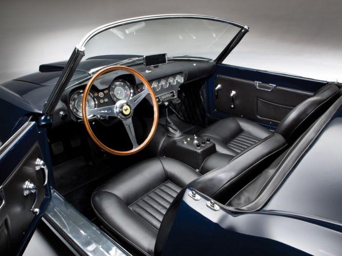 1957 Ferrari 250 GT LWB California Spyder g-t retro supercar supercars interior h wallpaper