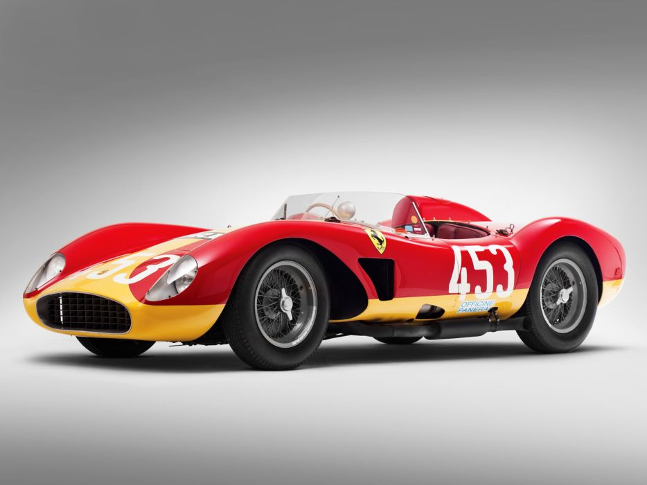 1957 Ferrari 500 TRC Spider retro race racing f wallpaper