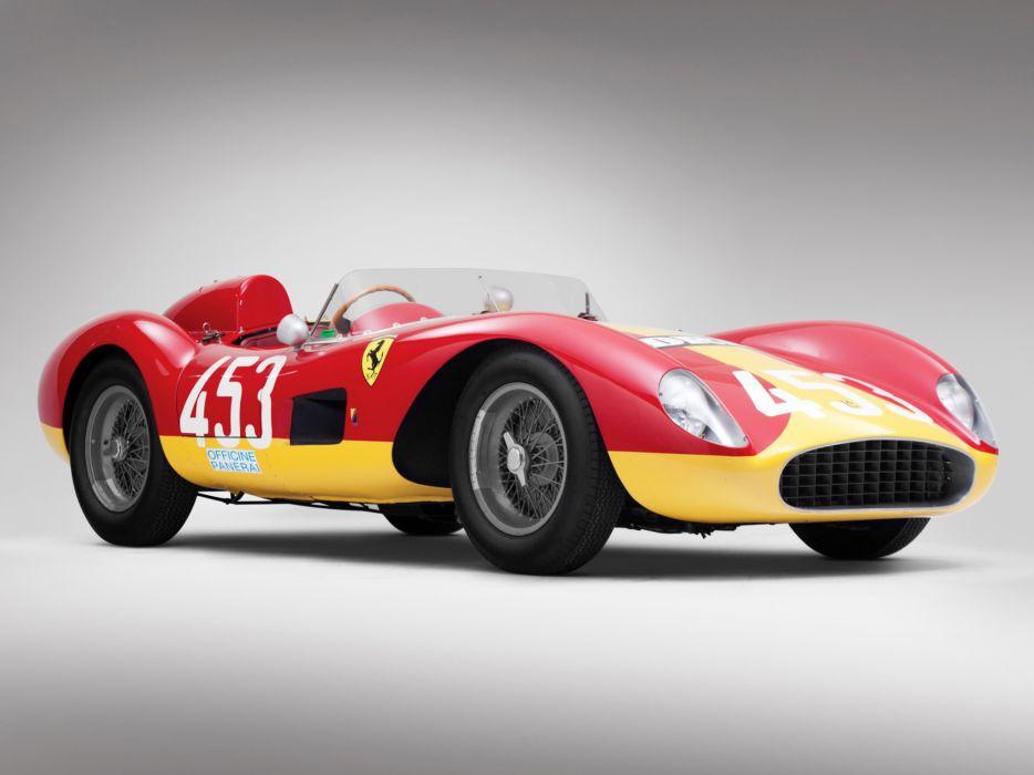 1957 Ferrari 500 TRC Spider retro race racing wallpaper