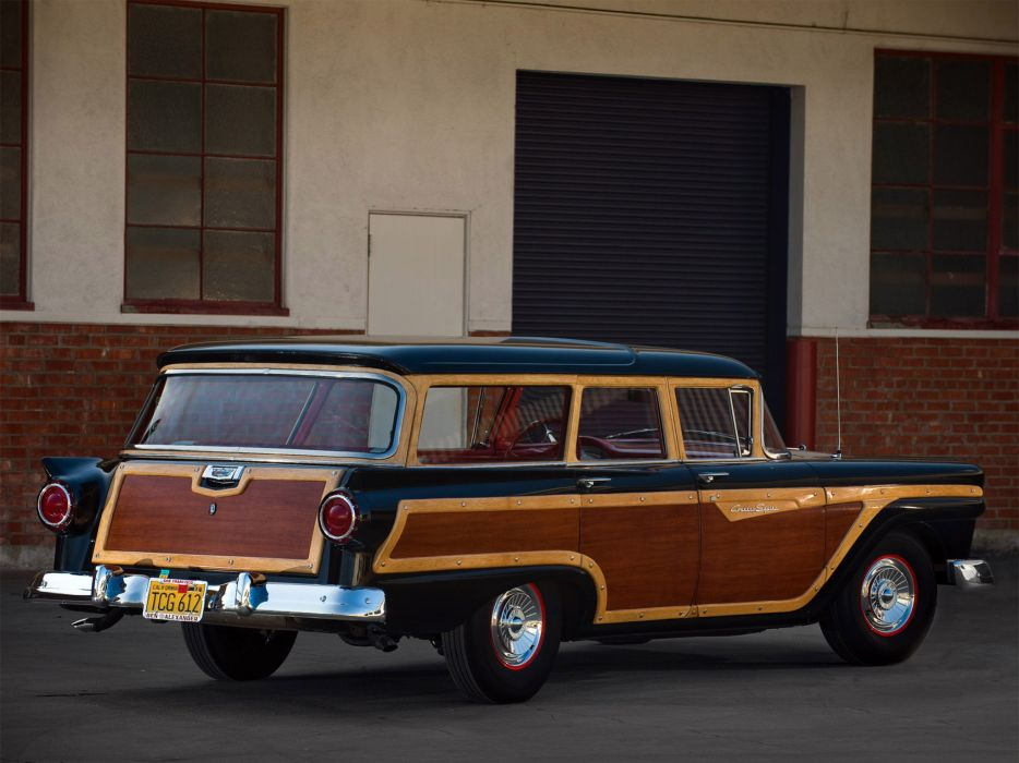 1957 Ford Country Squire stationwagon retro    ff wallpaper