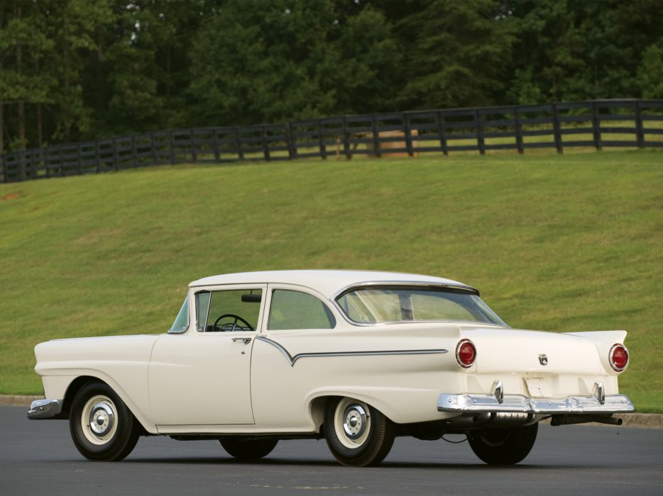 1957 Ford Custom Tudor Sedan 312 Thunderbird Special retro df wallpaper
