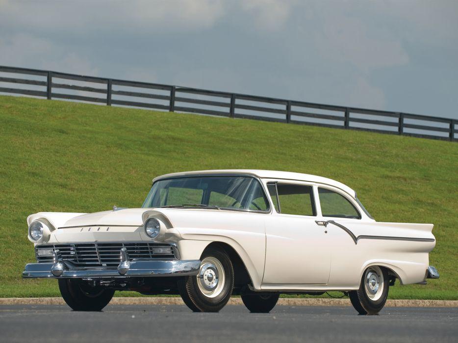 1957 Ford Custom Tudor Sedan 312 Thunderbird Special retro wallpaper