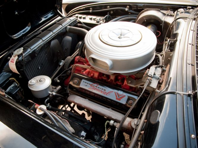 1957 Ford Fairlane 500 Skyliner Retractable Hardtop convertible retro engine engines wallpaper