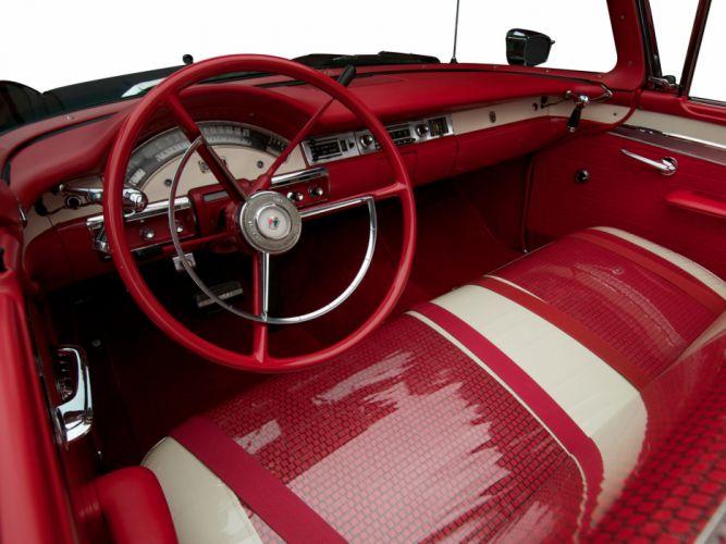 1957 Ford Fairlane 500 Skyliner Retractable Hardtop convertible retro interior wallpaper