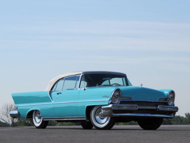 1957 Lincoln Premiere Convertible 76B retro luxury wallpaper
