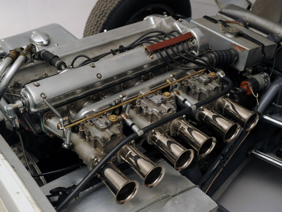 1957 Lister Knobbly Sports Racing race retro engine engines    f wallpaper