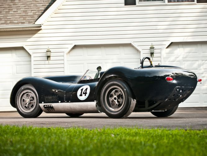 1957 Lister Knobbly Sports Racing race retro w wallpaper
