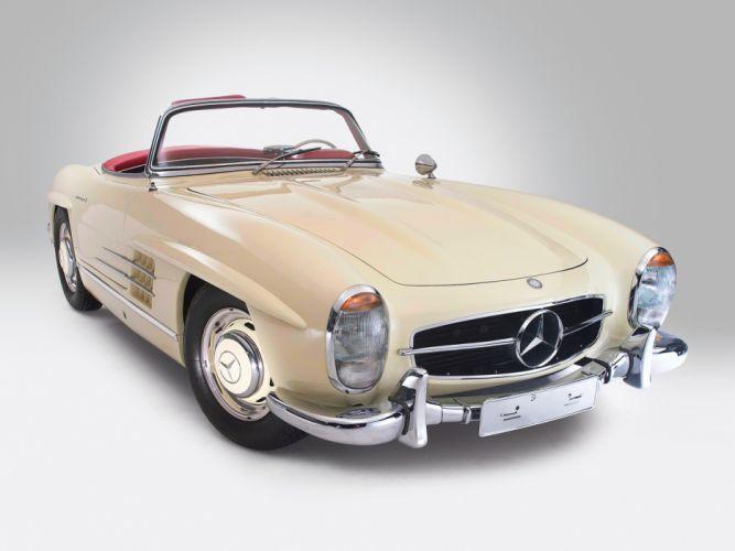 1957 Mercedes Benz 300SL R198 retro q wallpaper