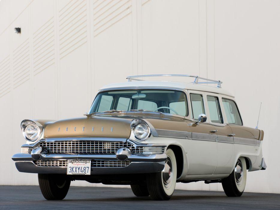 1957 Packard Clipper Country Sedan stationwagon retro  d wallpaper