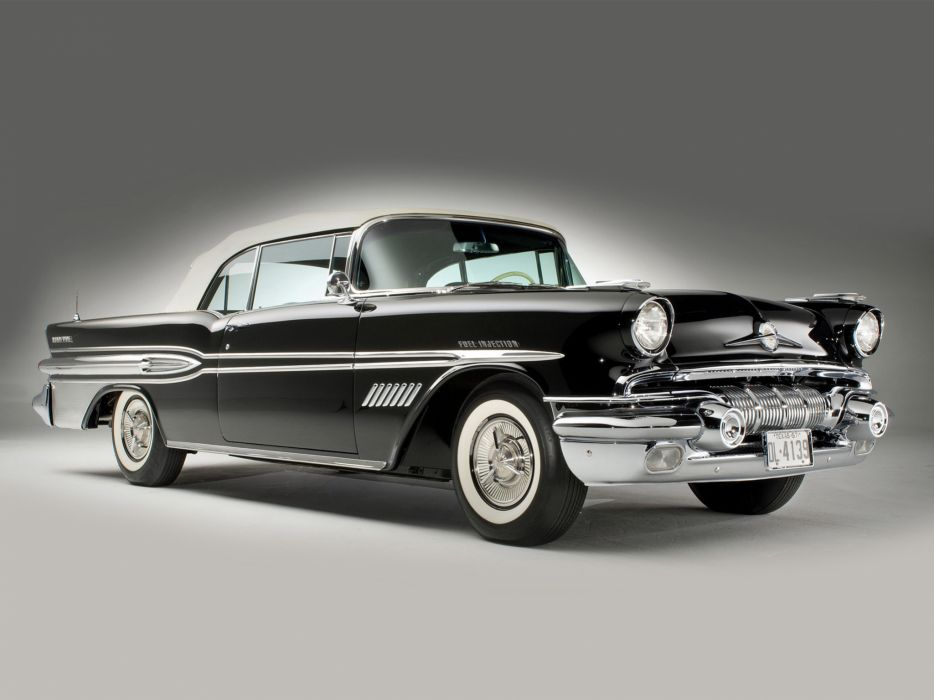 1957 Pontiac Bonneville Convertible retro     f wallpaper